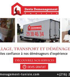 Devis déménagement Tunisie